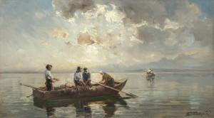 Chiemseefischer in der Morgensonne ⋅ 1919 Image