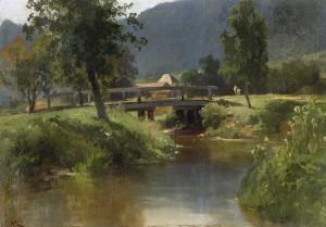 Bach mit Brücke ⋅ 1888 Image