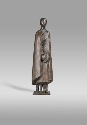Geborgenheit (Frau mit Kind im Mantel) ⋅ 1974 Image
