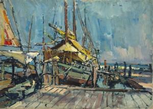 Im Hafen von Chiggia ⋅ um 1920 Image