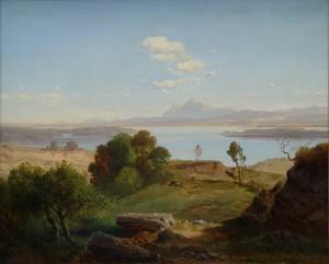 Blick über den Chiemsee ⋅ um 1860 Image