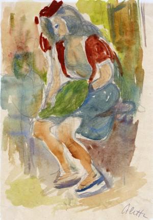 Sitzende Frau ⋅ um 1950 Image