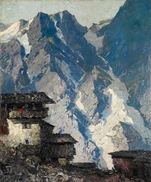 Berghof vor Gletscherlandschaft ⋅ um 1930/32 Image
