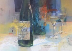 Stillleben mit Weinflaschen ⋅ 1996 Image