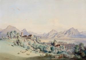 Blick auf Schloss Neubeuern und das Inntal ⋅ 1863 Image