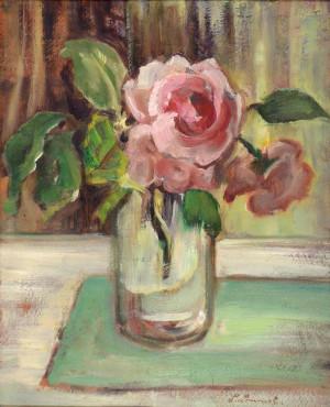 Rosen in Glasvase Image