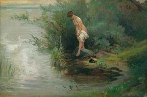 Badende auf der Fraueninsel ⋅ um 1900 Image