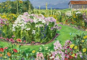Hochsommer im Garten (Feldwies am Chiemsee) ⋅ um 1950 Image