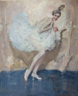 Tänzerin auf der Bühne ⋅ um 1940 Image