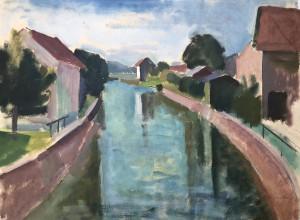 Häuser am Kanal Image