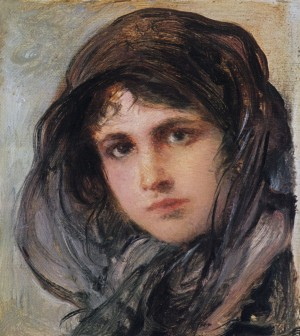 Mädchen mit Schleier ⋅ um 1890/95 Image