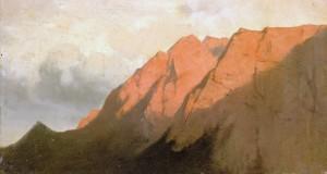 Hoher Göll im Alpenglühen ⋅ um 1878 Image