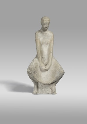 Mädchen mit langem Zopf ⋅ 1958 Image