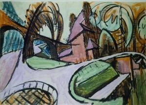 Schleuse im Berliner Tiergarten ⋅ um 1919 Image