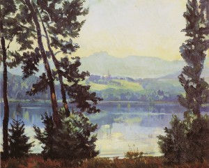 Blick über den Simssee ⋅ 1910 Image