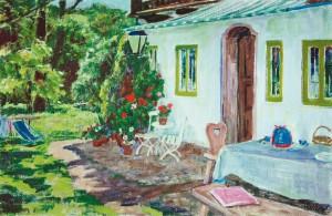 Sommer am Haus ⋅ um 1955 Image