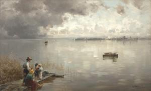Beim Fischen ⋅ um 1894 Image