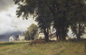 Die alten Linden auf Frauenchiemsee ⋅ 1865 Image