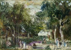 Waldlandschaft (Im Park) ⋅ um 1940 Image