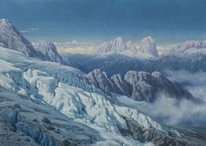 Langkofelgruppe vom Marmolata-Gletscher aus ⋅ um 1910 Image
