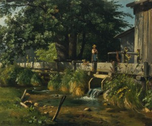 Alte Mühle bei Brannenburg im Inntal ⋅ um 1860 Image