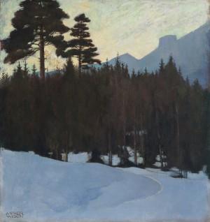 Winterabend im Chiemgau ⋅ um 1910 Image