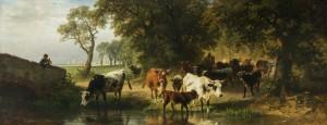 Kuhherde am Wasser ⋅ 1875 Image