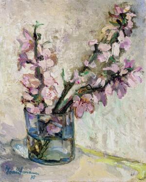 Blütenzweig im Glas ⋅ 1975 Image