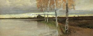 Birken am Ufer ⋅ um 1895 Image