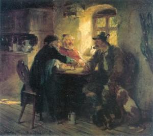 Kartenspieler am Fenster ⋅ 1877 Image
