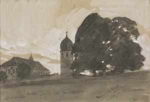 Münster und Campanile auf Frauenchiemsee ⋅ um 1913 Image