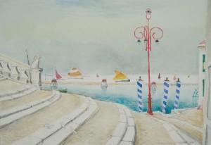 Weiße Tauben in Venedig ⋅ nach 1950 Image