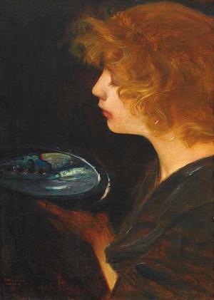 Meine Frau mit Muschel ⋅ 1898 Image