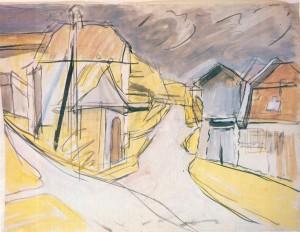 Bauernhäuser und Kapelle am Chiemsee II (Gstadt) ⋅ um 1926 Image