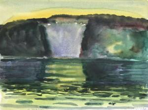 Meeresbucht im Abendlicht ⋅ 1994 Image