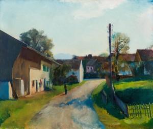 Ortsstraße in Gstadt am Chiemsee ⋅ um 1930 Image