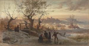 Eisvergnügen an der Isar ⋅ 1867 Image
